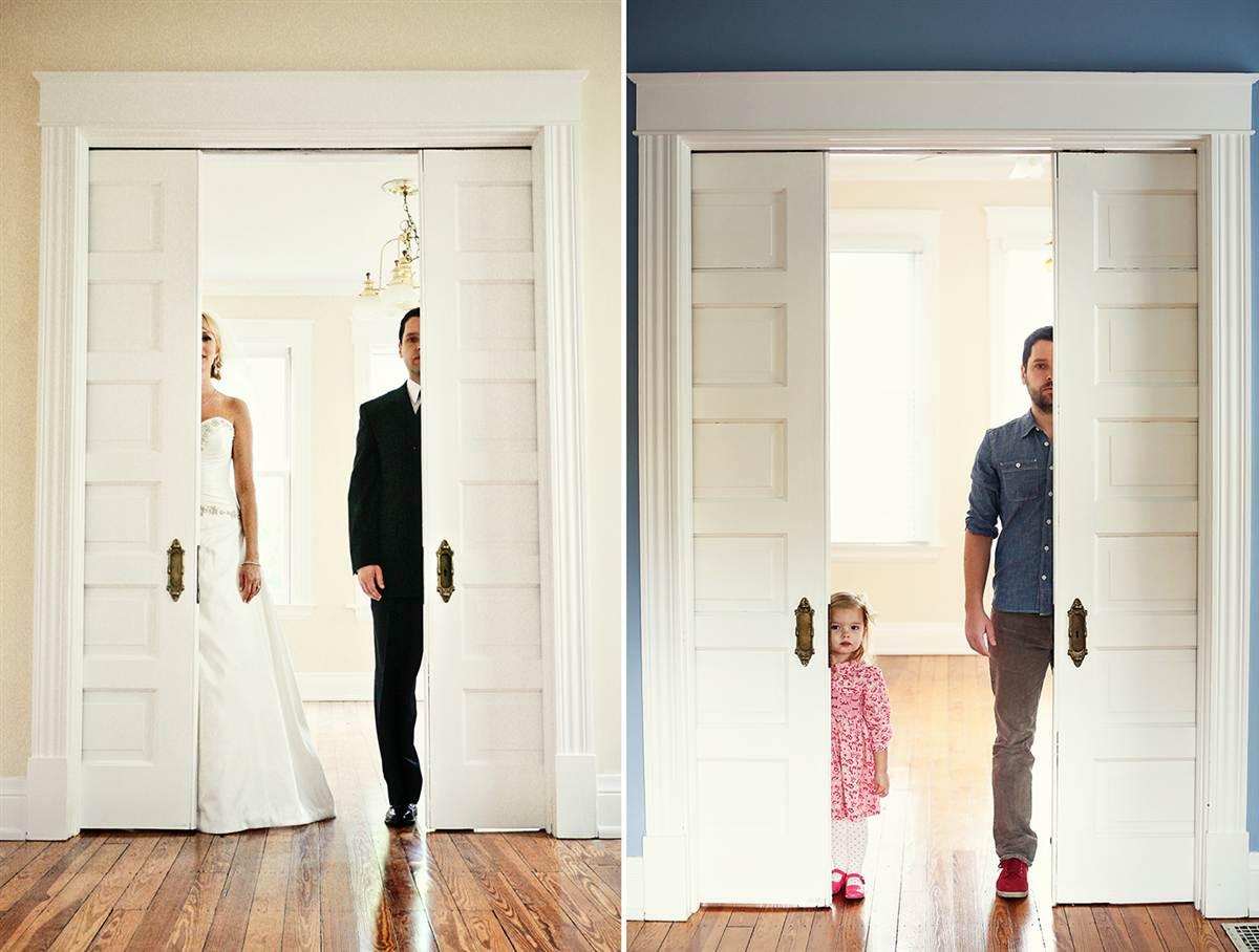 Pai e filha recriam maravilhosamente as fotos do álbum de casamento da falecida mãe 01