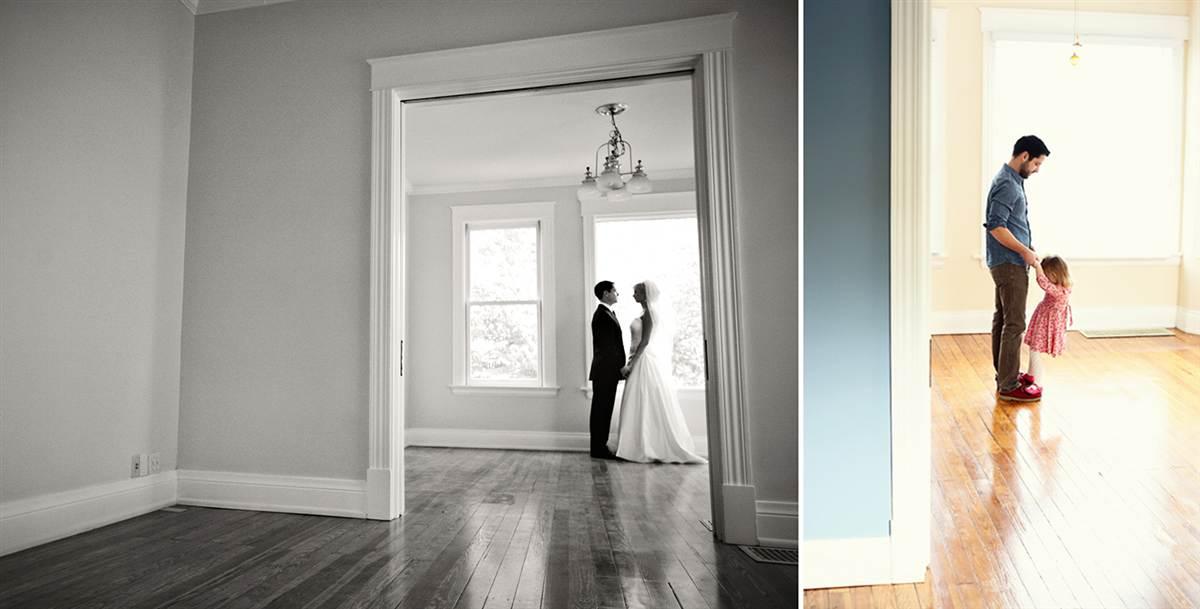 Pai e filha recriam maravilhosamente as fotos do álbum de casamento da falecida mãe 07