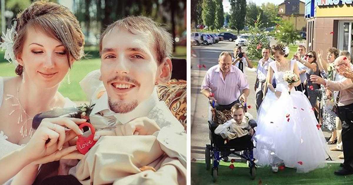 Bela mulher viaja 3 mil quilômetros para se casar com jovem deficiente, semanas depois de conhecê-lo on-line
