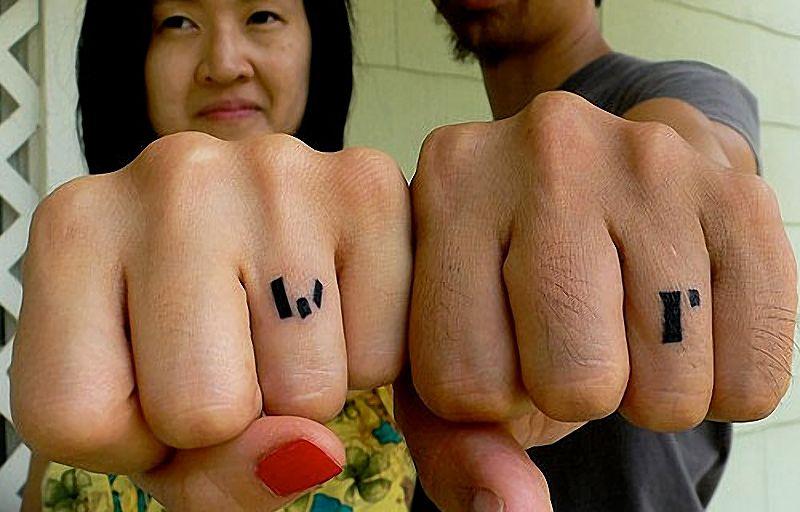 As melhores tatuagens de aliança de casamento 23