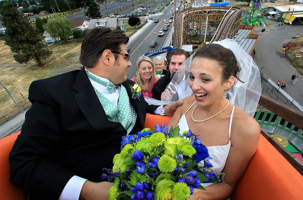Casamento em uma montanha russa