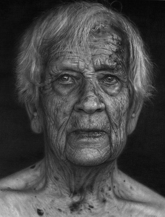 Incríveis desenhos realistas de faces humanas 01