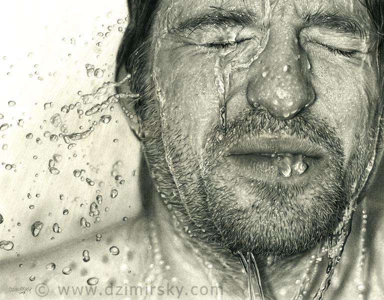 Incríveis desenhos realistas de faces humanas 02