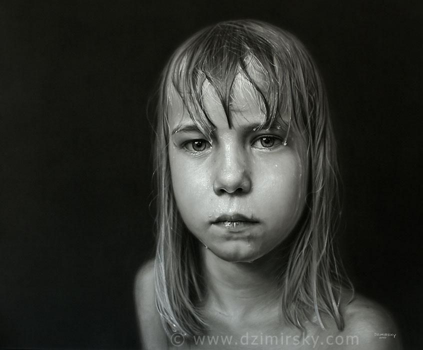 Incríveis desenhos realistas de faces humanas 03