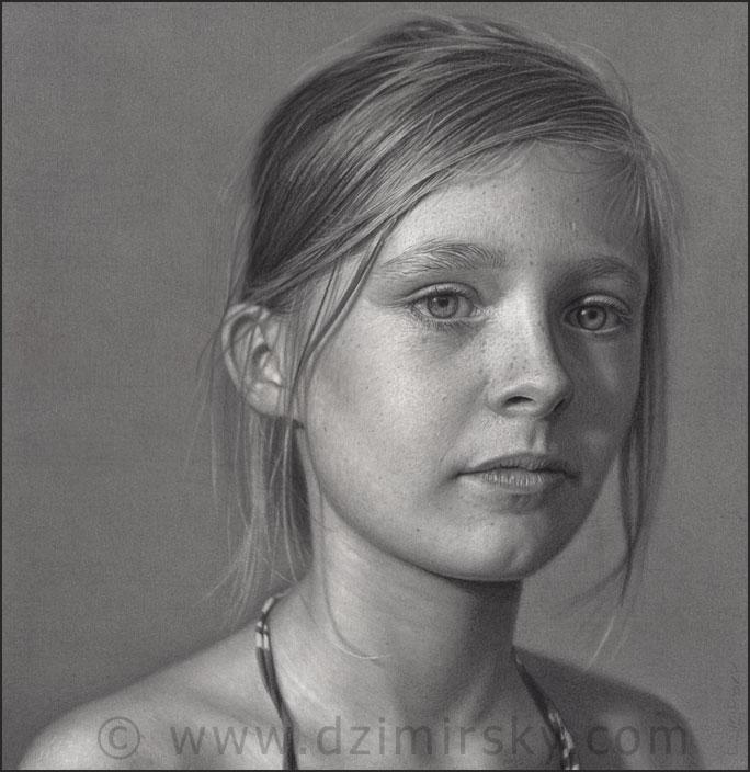 Incríveis desenhos realistas de faces humanas 05