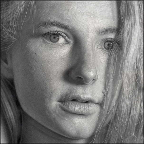Incríveis desenhos realistas de faces humanas 06