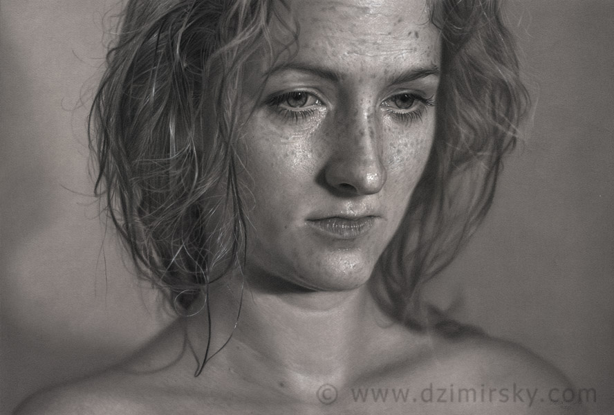 Incríveis desenhos realistas de faces humanas 09