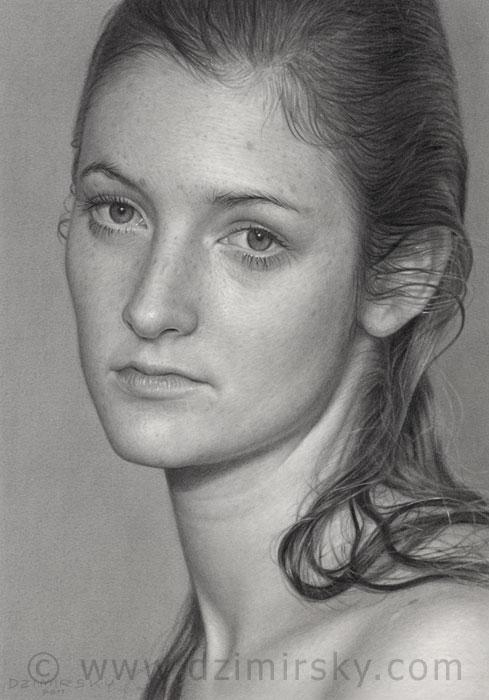Incríveis desenhos realistas de faces humanas 11