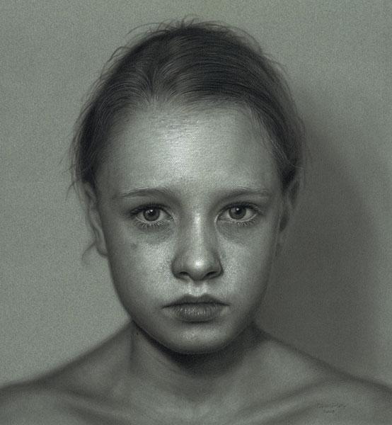 Incr�veis desenhos realistas de faces humanas 14