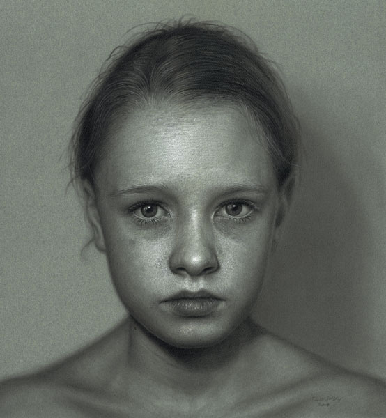 Incríveis desenhos realistas de faces humanas 14