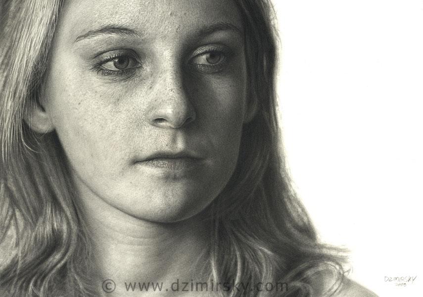 Incríveis desenhos realistas de faces humanas 15