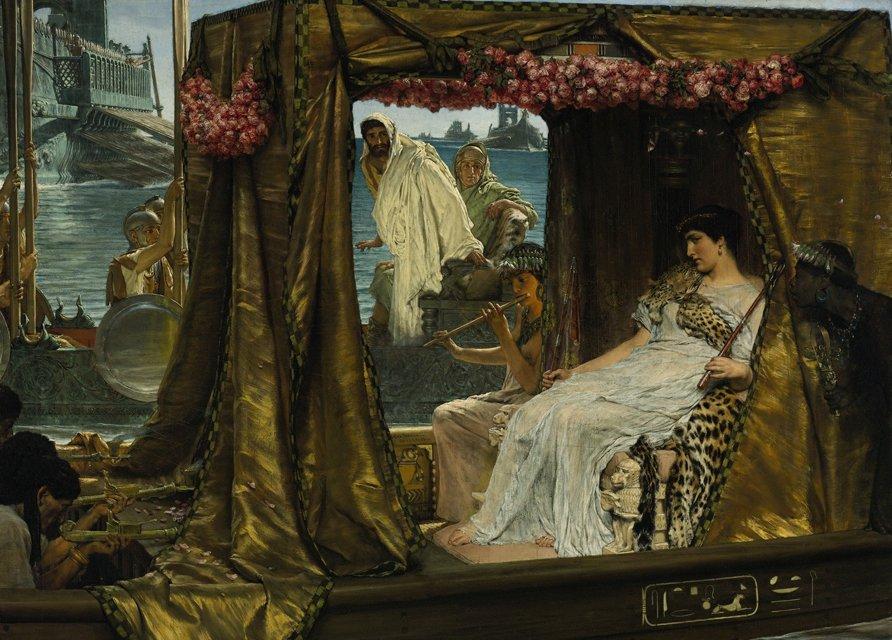 O dia que Cleópatra ridicularizou Marco Antonio