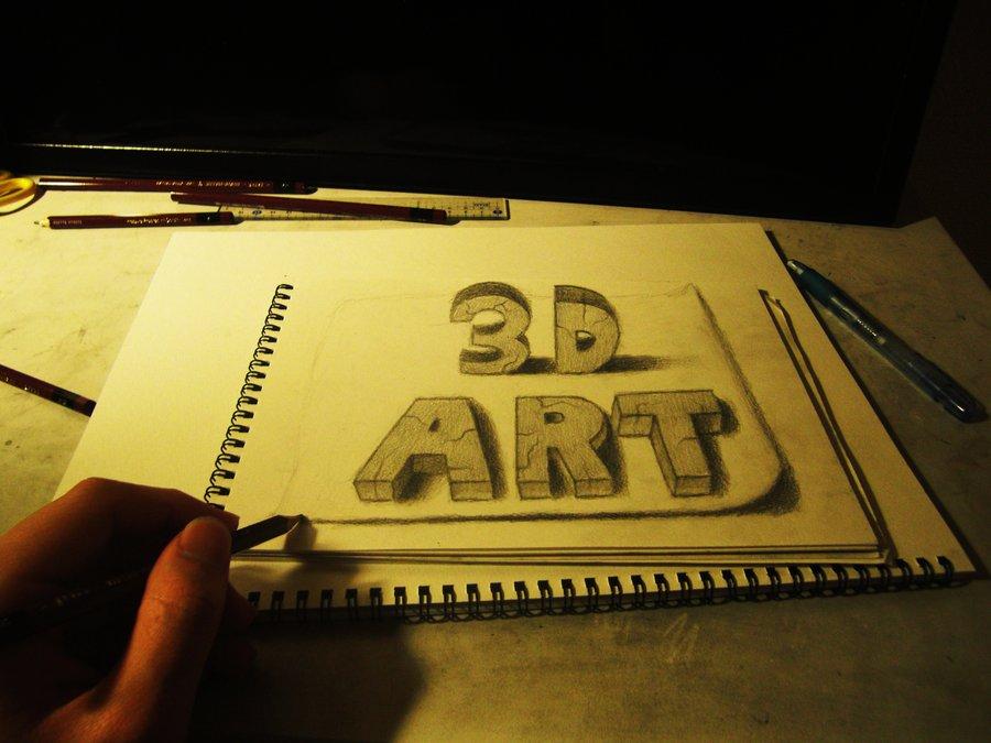 Intrincados e alucinantes desenhos a lápis em 3D 01