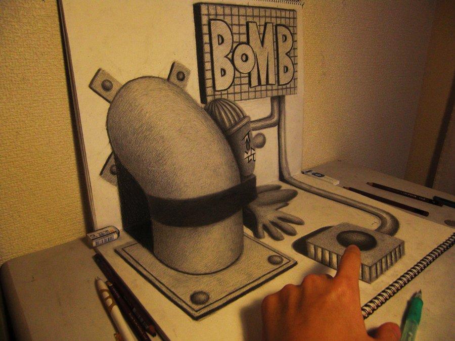 Intrincados e alucinantes desenhos a lápis em 3D 04