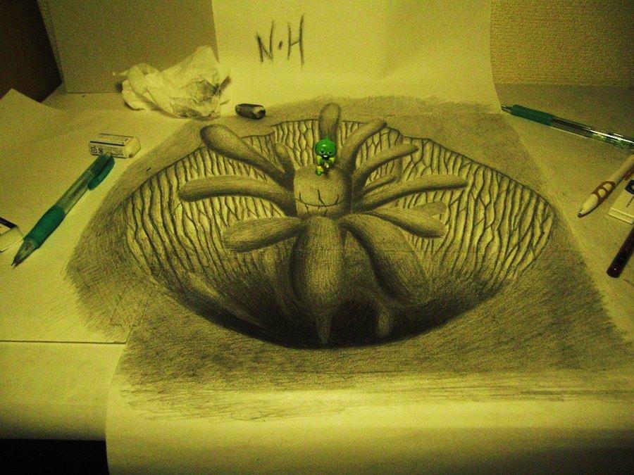 Intrincados e alucinantes desenhos a lápis em 3D 05