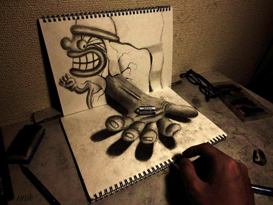 Intrincados e alucinantes desenhos a lápis em 3D 06