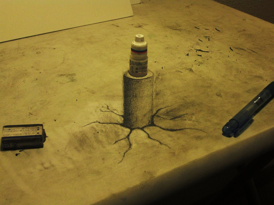Intrincados e alucinantes desenhos a lápis em 3D 09