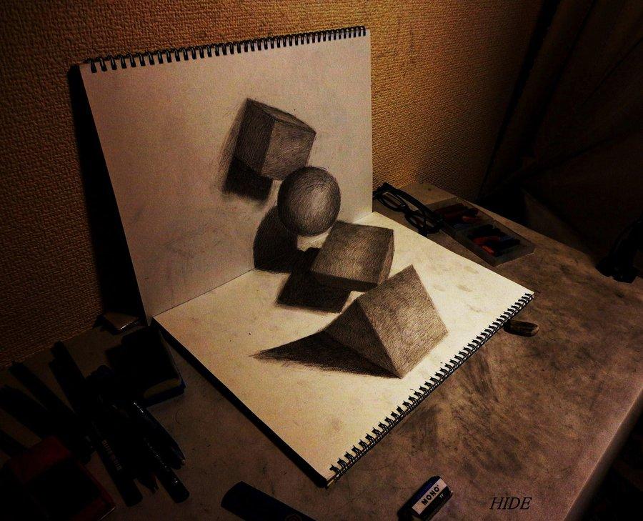 Intrincados e alucinantes desenhos a lápis em 3D 12