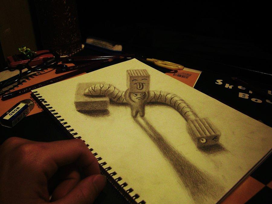 Intrincados e alucinantes desenhos a lápis em 3D 13