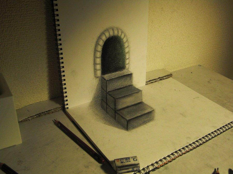 Intrincados e alucinantes desenhos a lápis em 3D 16