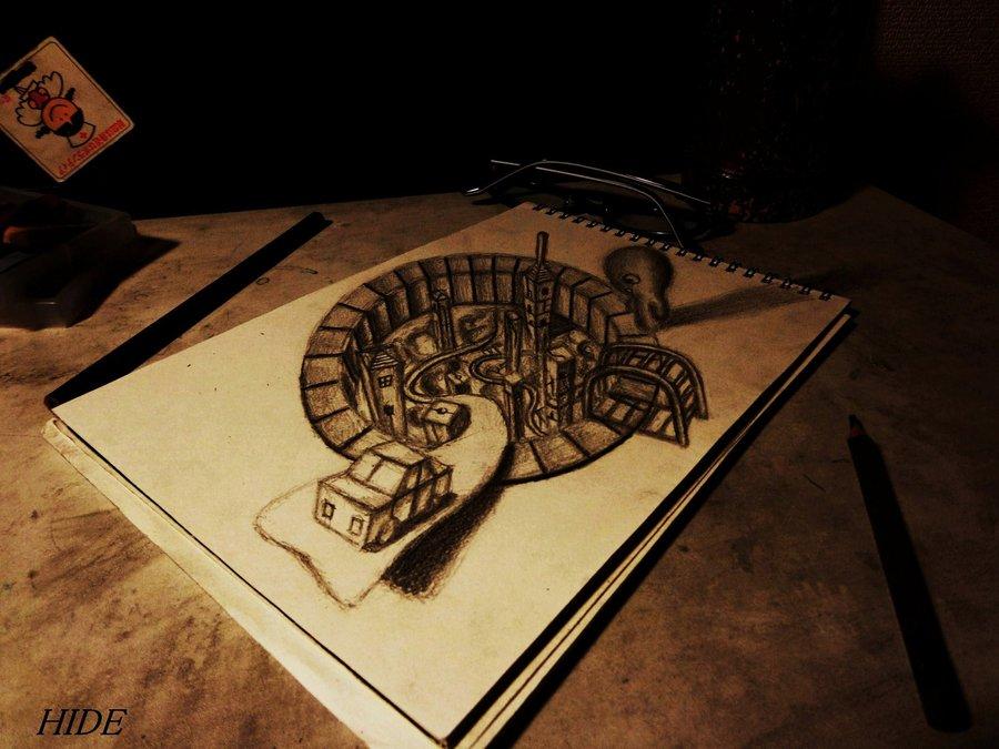 Intrincados e alucinantes desenhos a lápis em 3D 17