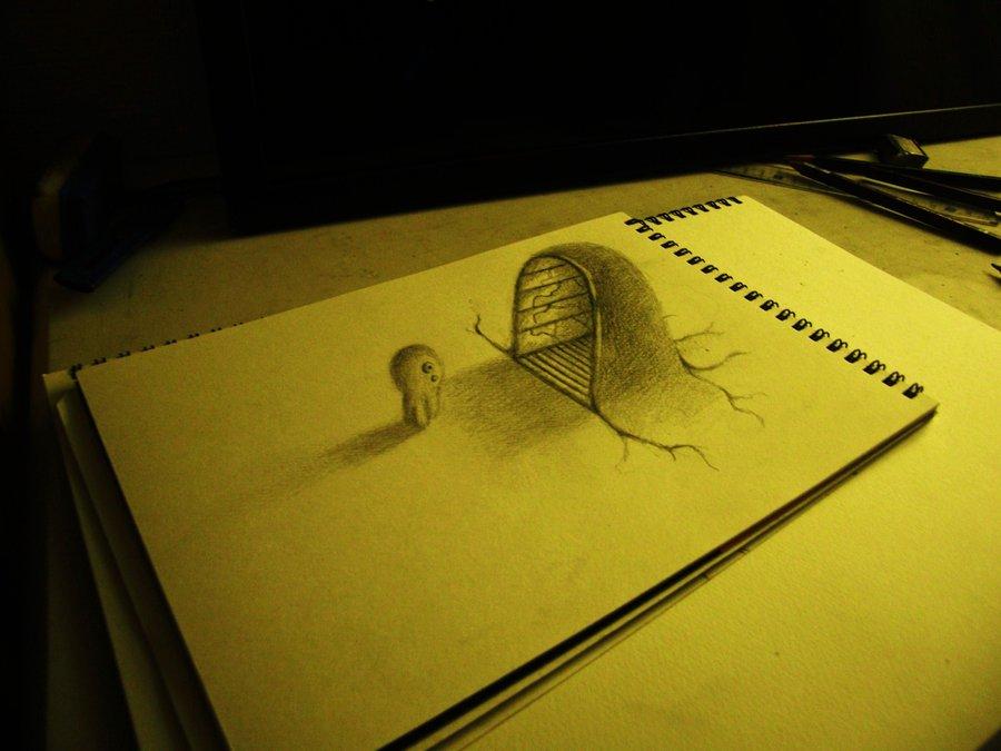 Intrincados e alucinantes desenhos a lápis em 3D 18