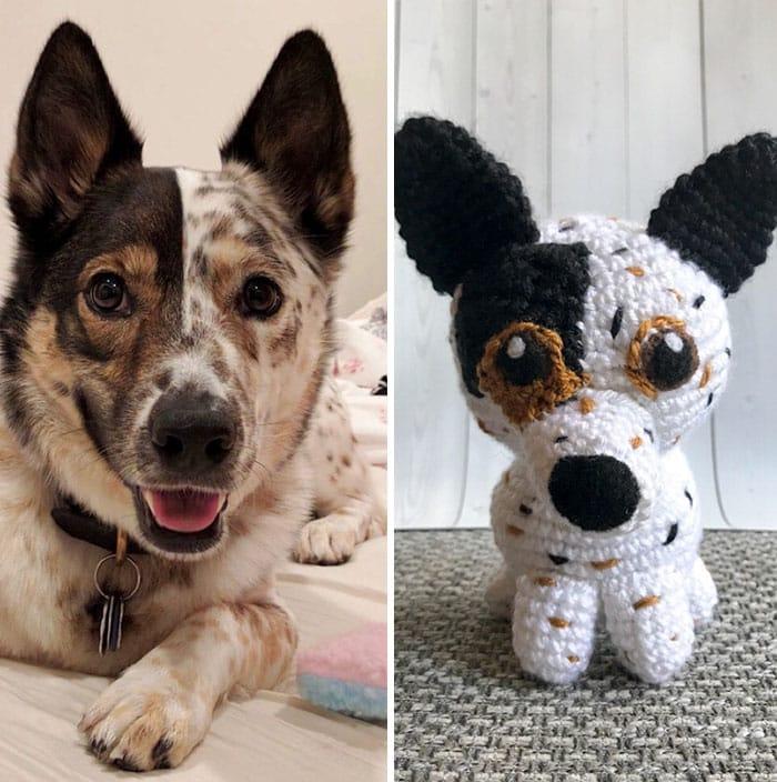 Artista cria adoráveis versões de crochê de cães de estimação 02