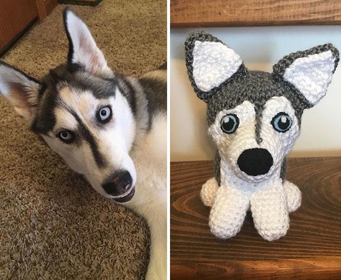 Artista cria adoráveis versões de crochê de cães de estimação 03