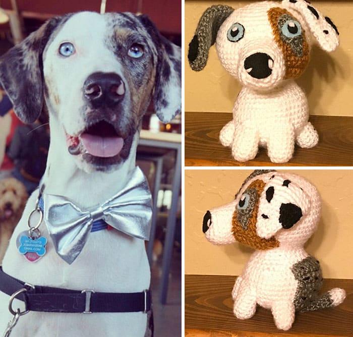 Artista cria adoráveis versões de crochê de cães de estimação 04