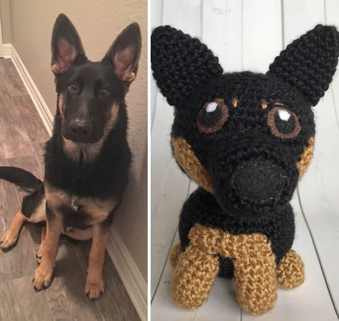 Artista cria adoráveis versões de crochê de cães de estimação 06