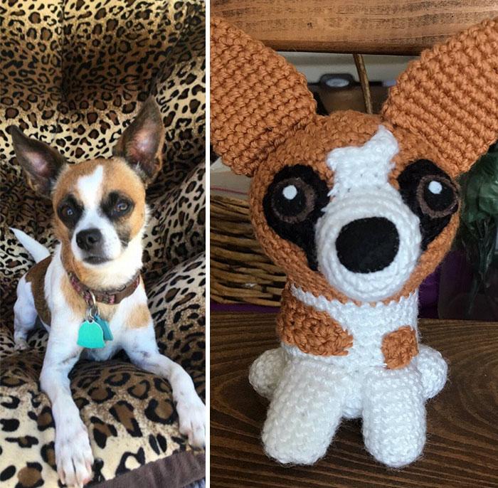 Artista cria adoráveis versões de crochê de cães de estimação 08