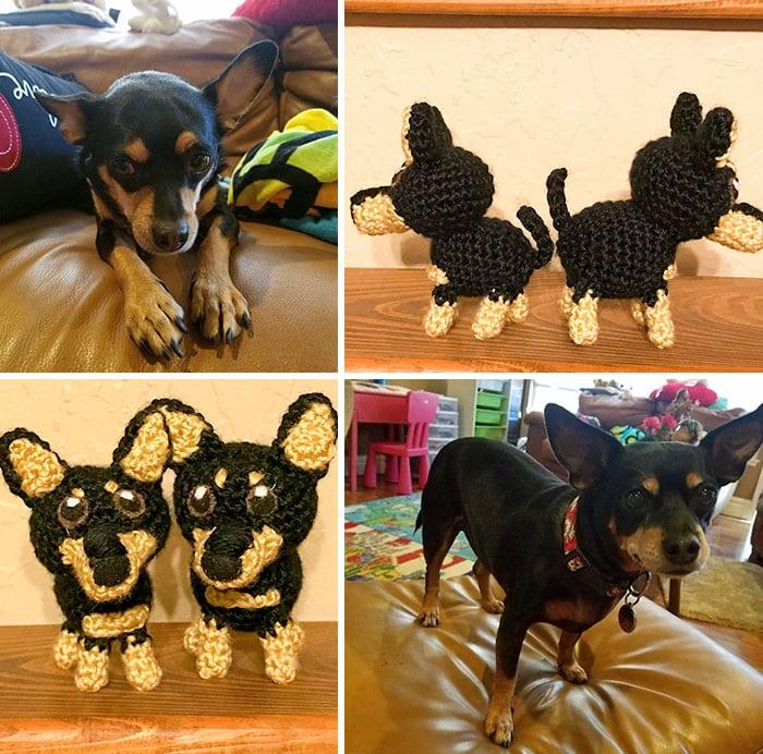 Artista cria adoráveis versões de crochê de cães de estimação 09