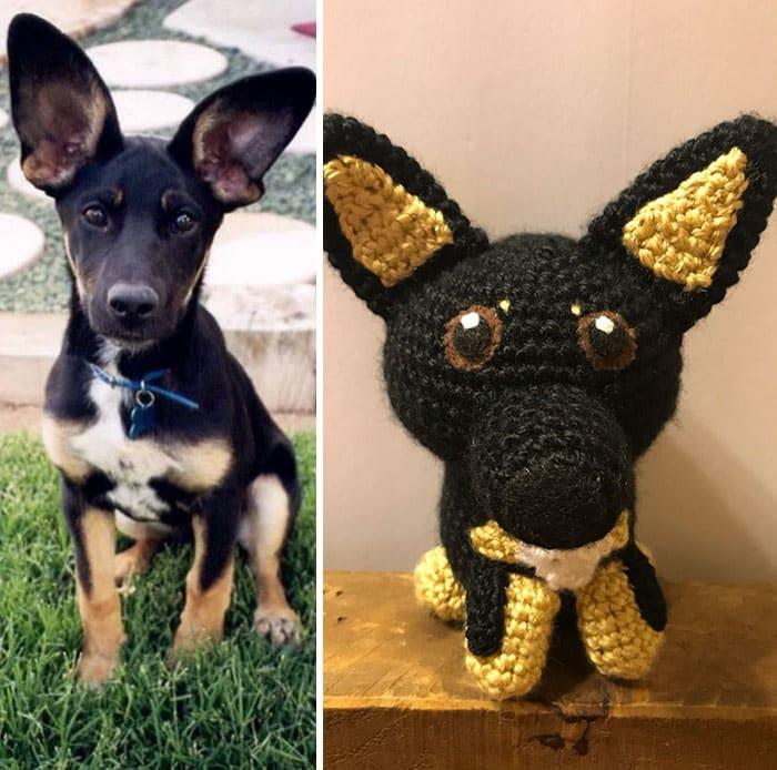 Artista cria adoráveis versões de crochê de cães de estimação 10