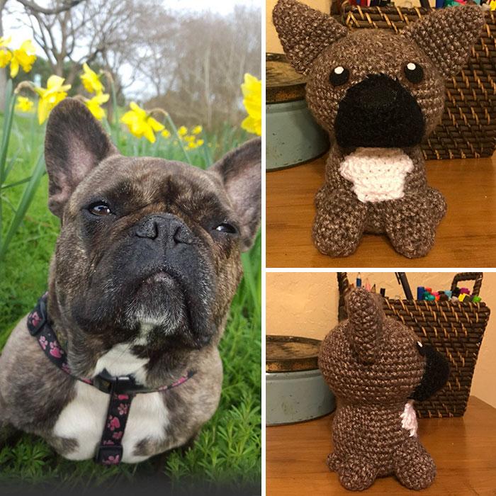 Artista cria adoráveis versões de crochê de cães de estimação 11