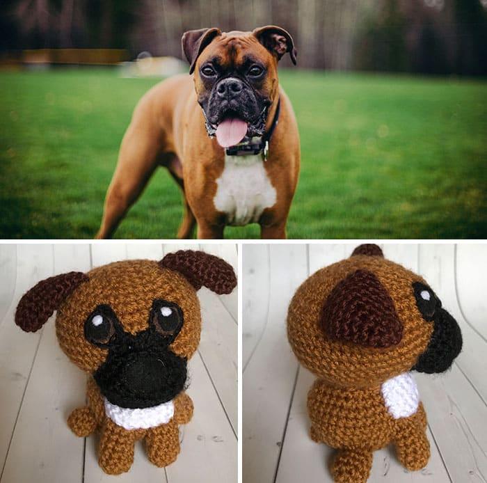 Artista cria adoráveis versões de crochê de cães de estimação 12