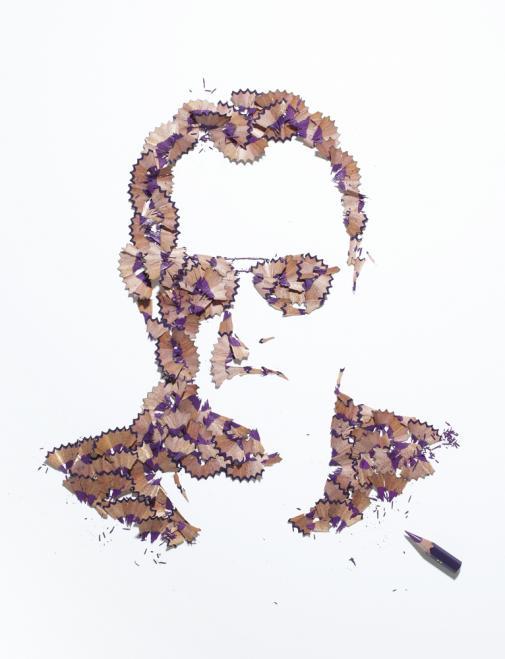 A arte feita com aparas de lápis de Kyle Bean 02