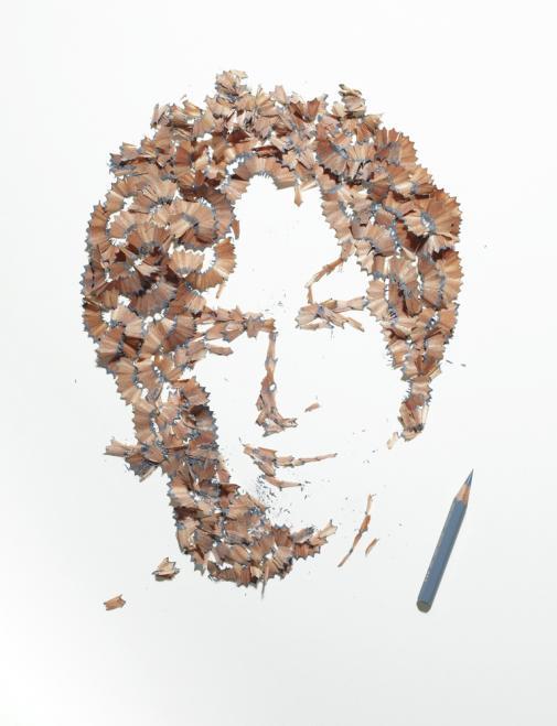 A arte feita com aparas de lápis de Kyle Bean 03