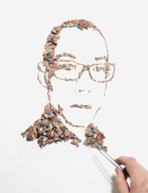 A arte feita com aparas de lápis de Kyle Bean 04