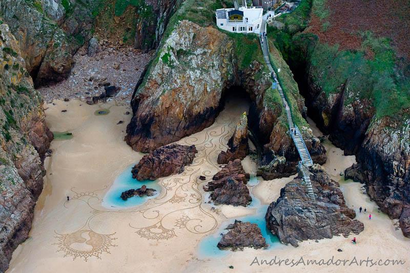 Obras de arte efêmeras na areia da praia 06
