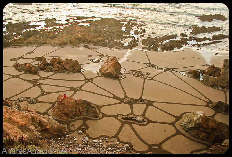 Obras de arte ef�meras na areia da praia 13