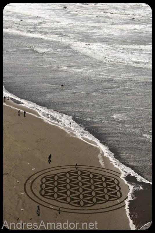 Obras de arte ef�meras na areia da praia 14