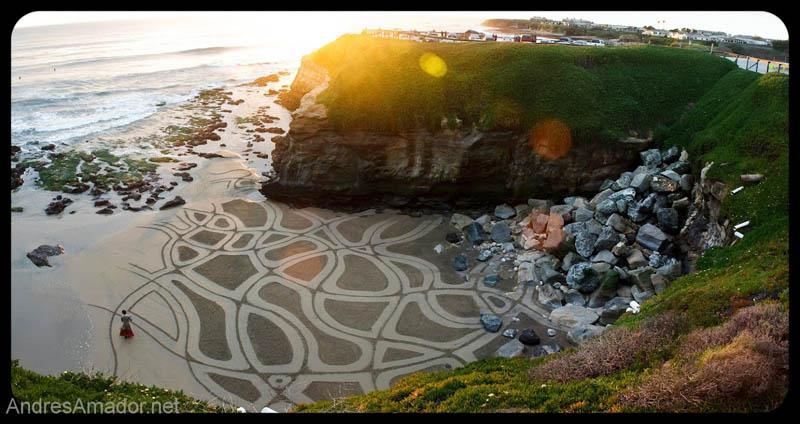 Obras de arte efêmeras na areia da praia 17