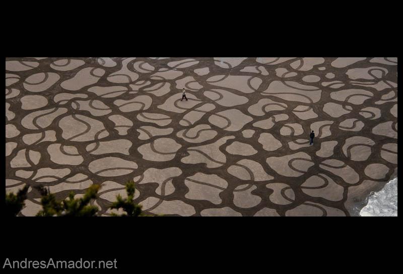 Obras de arte ef�meras na areia da praia 19