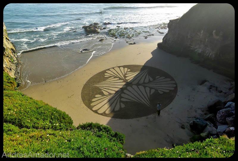 Obras de arte ef�meras na areia da praia 20