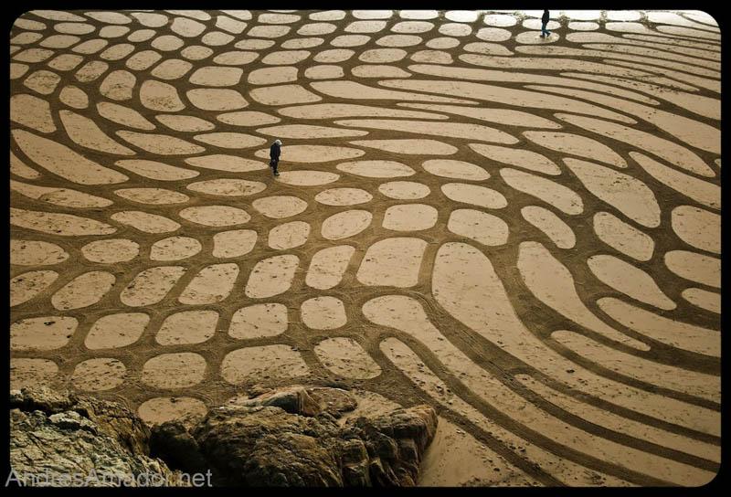 Obras de arte ef�meras na areia da praia 22