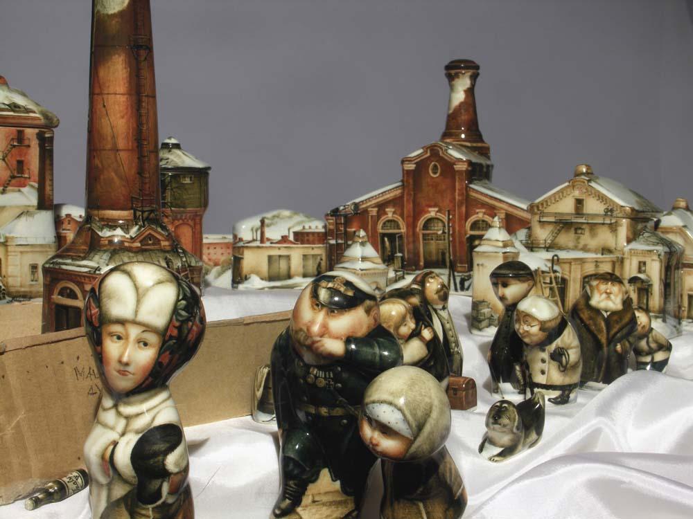 A arte barroca em porcelana de Andrei Cherkasov 14