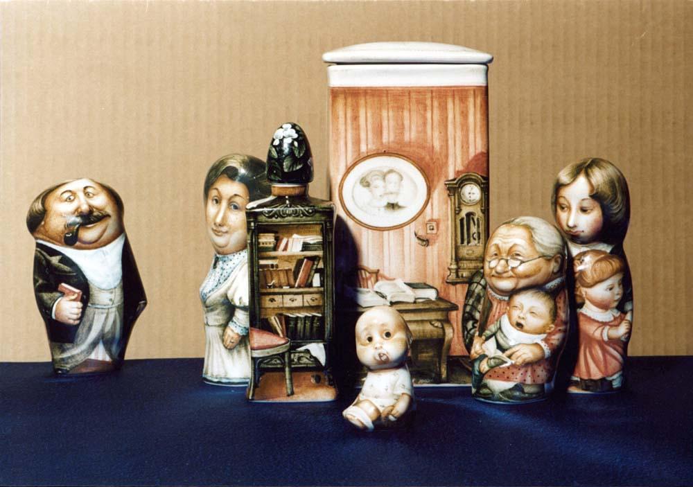 A arte barroca em porcelana de Andrei Cherkasov 15