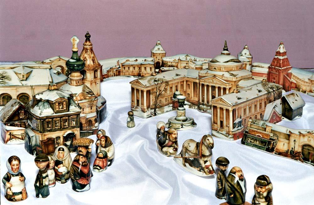 A arte barroca em porcelana de Andrei Cherkasov 34