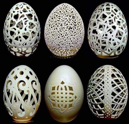 Incrível arte na casca de ovo de Gary LeMaster 04