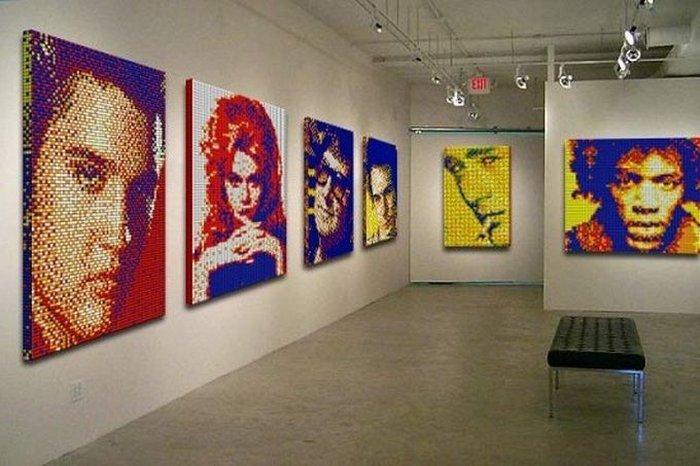 Obras de arte feitas com cubos de Rubik 01